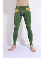 Men's Running Tights Breathable Soft Comfortable Spring Fall/Autumn Winter Yoga Exercise & Fitness Running Elastane Terylene TightDark