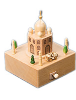 Music Box  Famous buildings Model & Building Toy Wood Unisex
