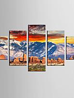 Stampe fotografiche Paesaggi Modern Classico,Cinque Pannelli Tela Qualsiasi forma Stampa artistica Decorazioni da parete For Decorazioni