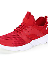 Women's Sneakers Spring Summer Comfort Tulle Outdoor Athletic Casual Flat Heel Gore Red Black White Running