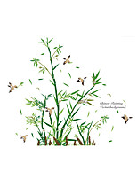 Wall Stickers Wall Decals Style Bamboo Forest Flying Bird PVC Wall Stickers