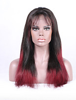 Beata cheveux ombre couleur 1b / 99j perruque frontale en dentelle droite cheveux mâles remy cheveux naturels