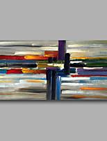 Ручная роспись Абстракция Горизонтальная,Modern Европейский стиль 1 панель Холст Hang-роспись маслом For Украшение дома