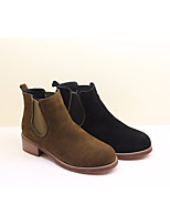 Women's Boots Spring Comfort PU Leather Casual Brown Gray Black