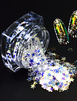 1 Bottle Fashion Beautiful Nail Art Glitter Star Paillette Shining Thin Slice Lovely Star Design Magical Dazzling Slice Decoration SZ03