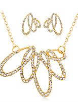 Набор украшений Ожерелье / серьги Мода Euramerican Стразы Сплав Геометрической формы 1 ожерелье 1 пара сережек ДляСвадьба Для вечеринок