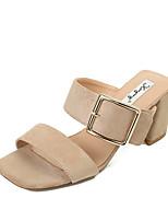 Femme-Bureau & Travail Habillé--Gros Talon-Confort-Chaussures à Talons-Tissu
