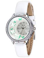 Mulheres Relógio de Moda Quartzo / Couro Banda Casual Branco Marrom