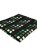 CH2 Men's Pocket Square Hanky Handkerchiefs Green Multicolor Checked 100% Silk Casual  Dress New