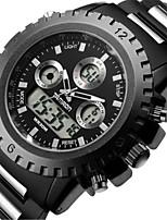 Masculino Relógio Esportivo Relógio de Moda Quartzo Aço Inoxidável Banda Preta