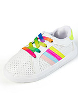 Girls' Sneakers Spring Fall Comfort PU Casual Flat Heel White