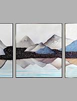 Ručně malované Krajina Horizontálně,Moderní Tři panely Plátno Hang-malované olejomalba For Home dekorace