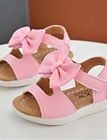 Girls' Sandals Spring Fall Comfort PU Casual Flat Heel Blushing Pink White