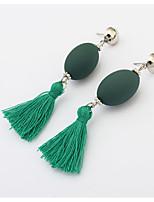 Серьги-слезки Кристалл Мода Акрил Сплав Черный Серый Красный Зеленый Бижутерия Для Обручение Бикини 1 пара