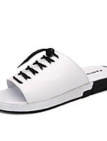 Herren-Slippers & Flip-Flops-Outddor Büro Kleid Lässig-KunststoffKomfort-Weiß Schwarz
