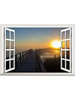 Pegatinas de pared 3d calcomanías de pared de estilo el sol de pvc del amanecer pegatinas de pared