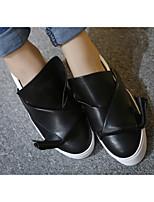 Белый Черный-Для женщин-Для занятий спортом-Хлопок-На плоской подошве-Туфли Мери-Джейн-Спортивная обувь