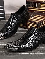 Золотой Серебряный-Для мужчин-Для прогулок Для офиса Повседневный Для вечеринки / ужина-Наппа LeatherФормальная обувь-Туфли на шнуровке