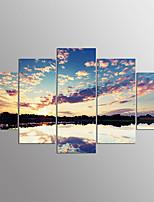 Impressão em tela esticada paisagem moderna, cinco painéis de lona qualquer decoração de parede de forma de impressão para decoração de