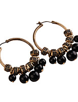 Drop Earrings Jewelry Fashion Vintage Gem Alloy Jewelry Green Black White Jewelry For Party Gift Casual 1 pair