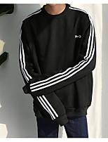 Sweatshirt Homme Décontracté / Quotidien Couleur Pleine Col Arrondi Micro-élastique Coton Manches longues