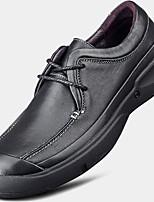 -Для мужчин-Повседневный-Тюль-На плоской подошве-Удобная обувь-Туфли на шнуровке