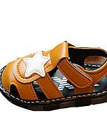 Белый Коричневый-Мальчики-Повседневный-Полиуретан-На плоской подошве-Удобная обувь-Сандалии