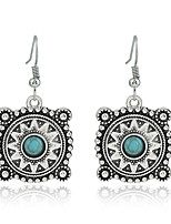 Earrings Set Turquoise Euramerican Fashion Personalized Alloy Jewelry For Wedding Party Birthday Gift 1 pair
