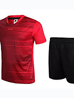 Unisex Soccer Clothing Sets/Suits Breathable Wearable Comfortable Spring Summer Fall/Autumn Solid Football/SoccerRed Blue Black/White