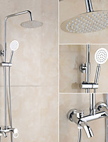 Contemporary Centerset Waterfall Rotatable with  Ceramic Valve Single Handle Two Holes for  Chrome , Shower Faucet