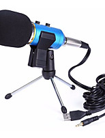 Com Fios Microfone de Computador Preto Azul