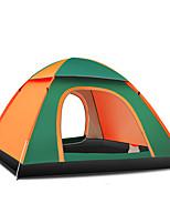 3-4 personnes Tente Unique Tente automatique Une pièce Tente de camping 1500-2000 mm Fibre de verre OxfordRésistant à l'humidité Etanche