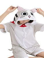 Kigurumi Pajamas Anime Cat Leotard/Onesie Festival/Holiday Animal Sleepwear Halloween Gray Animal Print Cotton Cosplay Costumes Kigurumi
