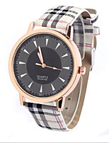 Women's Men's Unisex Fashion Watch Quartz Leather Band Casual White Brown