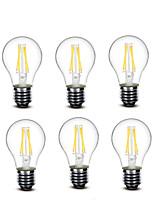 3.5 E27 LED-hehkulamput A60(A19) 4 COB 400 lm Lämmin valkoinen Koristeltu AC220 AC230 AC240 V 6 kpl