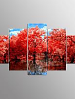Impressão em tela esticada pessoas modernas, cinco painéis de lona qualquer decoração de parede de forma de impressão para decoração de