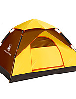 2 persons Tent Single Automatic Tent One Room Camping Tent Fiberglass Oxford Waterproof Ultraviolet Resistant Windproof Foldable-Hiking