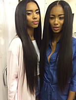 T-Top Hair Lace Front Wigs With Baby Hair Natural Hairline Guleless Full Lace Wig Long Straight Human Hair Wigs For Black Women