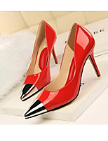 Women's Heels Summer Club Shoes PU Office & Career Nude Blue Red Gray Silver