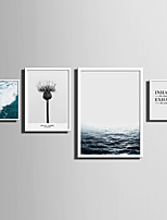 E-HOME® Framed Canvas Art   Simple Sea And Plant Series (3) Theme Series Framed Canvas Print One Pcs