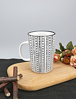 340ml Tribal Dots Patern High Temperature Porcelain Mug