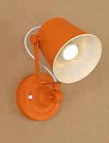 Qsgd ac220v-240v 4w e27 led světlo natřený ocelový nástěnný lampa hnědý americká káva dekorace retro stěna světlo lightsaber lampa na zeď