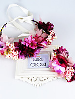 Women's Fabric Hair Clip Handmade Flowers Cute Party Casual Spring Summer Headband Headpiece Head Wreath Hair Accessories Flower