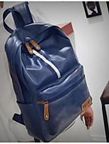 Men PU Casual Backpack All Seasons