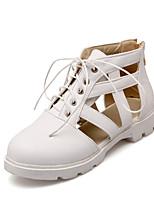 -Для женщин-Для прогулок Повседневный-Полиуретан-На плоской подошве-Удобная обувь-Ботинки