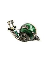 Fashion Trendy Cute Enamel Snail  Metal brooch