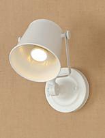 Qsgd ac220v-240v 4w e27 led světlo natřené ocelové nástěnné lampy hnědé americká káva dekorace retro stěna světlo lightsaber lampa na zeď