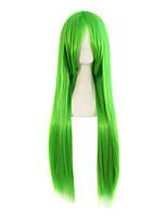 Peruca verde ombre cor perucas sintéticas cor vermelha cabelo liso cosplay perucas sintéticas