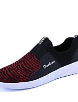 Черный/Красный Черно-белый Черный / синий-Для мужчин-Для прогулок Повседневный Для занятий спортом-Тюль-На плоской подошве-Удобная обувь-