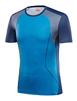 LEIBINDI®Men's Outdoor & Indoor Short Sleeve Running Camping T-shirt Breathable Quick Dry Wearable Summer Sports Wear Exercise & Fitness T-shirt